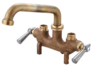 "CENTRAL BRASS 80466 Two Handle Laundry Faucet 6"" Tube Spout"