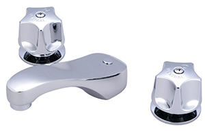 CENTRAL BRASS 81125-A Two Handle Widespread Lavatory Faucet