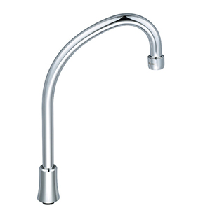 CENTRAL BRASS CS-22001 6-3/8″ Swivel Tri-Arc Gooseneck Spout With Aerator