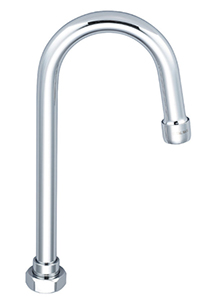 CENTRAL BRASS SU-157-GRA 4-3/32″ Rigid Gooseneck Spout With Aerator