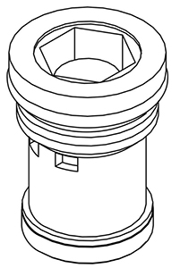 CENTRAL BRASS SU-266-P Diverter Piston-Plastic