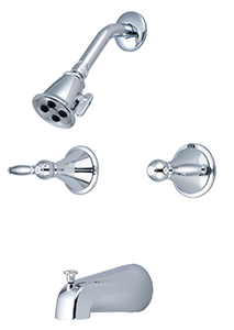 CENTRAL BRASS TC-2-L3 Two Handle Tub And Shower Trim Kit