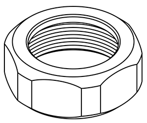CENTRAL BRASS X1876-BB Coupling Nut for Rough Brass Faucet Only-2 Pack